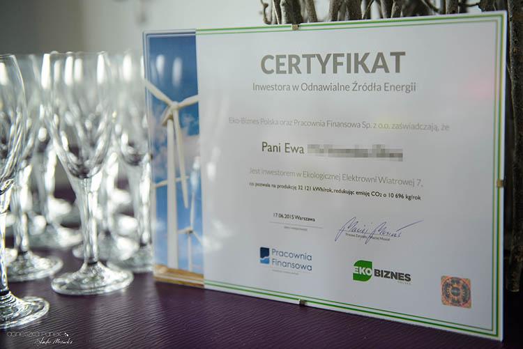 certyfikat inwestora w odnawialne źródła energii